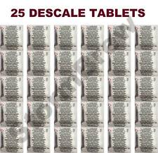 25 DESCALING DESCALER TABLETS: LAVAZZA, SENSEO, JURA, NESPRESSO COFFEE MACHINES