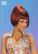 Borgogna Beehive Bob Parrucca 70's Austin Powers Disco Costume