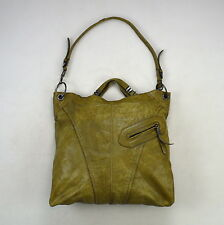 orYANNY Olive Green Leather Hobo Shoulder Bucket Bag Satchel Purse Tote Sack XL