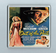 Retro Film Coaster OUT OF THE PAST Robert Mitchum Jane Greer