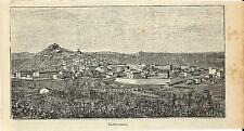 Stampa antica CAMPOBASSO Veduta Panoramica Molise 1905 Old antique print