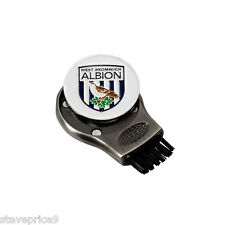 WEST BROM WBA FC GRUVE CLEANER AND GOLF BALL MARKER. GROOVE CLEANING BRUSH