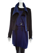 $1.875 NWT 36 XS S 0 2 4 ANN DEMEULEMEESTER jacket coat shirt flake king blue