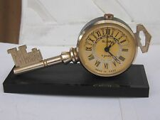 VINTAGE SOVIET RUSSIAN SLAVA KEY OF MOSCOW DESK ALARM CLOCK 11 Jew.