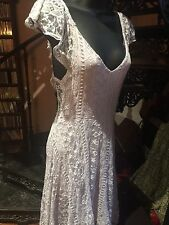 Kimchi Blue Pale Pastel Purple Lace Sleeveless Vintage Style Flapper Dress