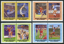 St Vincent Grenadines Bequia 170-173, MNH. Summer Olympics, Los Angeles, 1984