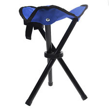 Camping Fishing Travel Portable 3-legged Tripod Folding Stool Chair Blue