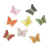 Mini Butterfly Iron On Appliques x 5