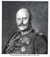 Generalstabschef Helmuth von Moltke Zeichnung v.Hugo Struck c.1914/15