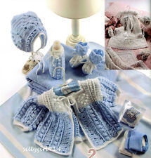 """BABY LAYETTES""~Annie's Attic Crochet PATTERNS ONLY~2 Designs~BOY/GIRL~SEE PICS"