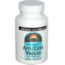 Source Naturals Apple Cider Vinegar - 180 - 500mg Tablets - Alkalize & Detox