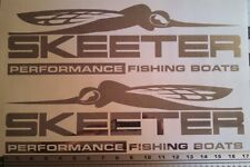 Pair Skeeter Performance fishing Boats Decal in Polished silver(chrome) stickers