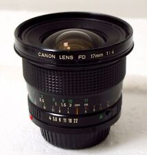 Canon FD 17mm f4 Fisheye Lens w Cap Japan Great+ Cond!