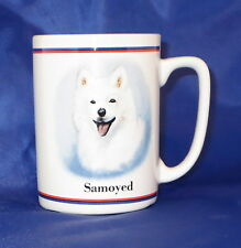 Samoyed Coffee Cup Mug Dog  Puppy Saying on Back White Ceramic Ruth Maystead