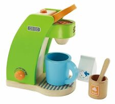 Hape ~ Playfully Delicious ~ Coffee Maker Wooden Play Kitchen Set NEW