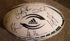 New Zealand Rugby Ball Signed by 2015 Rugby World Cup Squad WITH PROOF