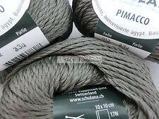 150 Gramm Schulana PIMACCO, Baumwolle mit edlem Glanz, Farbe schlamm 12 #905