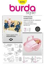 BURDA SEWING PATTERN DOLLS CLOTHES JACKET  DRESS CAPE BABY 8591