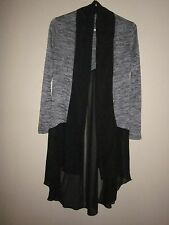 Artizan Robin barre high Low sheer Chiffon Wrap cardigan Sweater Coat Jacket Xs