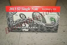 2013 $2 Single Note Collection Two Dollar Federal Reserve Bank of KANSAS CITY