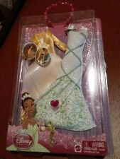 NEW! Disney Pricess Sparkle Girls Barbie Doll Beauty Clothes Tiana Fashions Wear