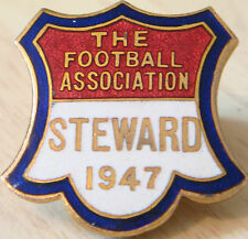 La Asociación de Fútbol 1947 Steward Badge Maker J&T Co Ojal 29mm X 30mm