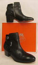 Coach Page Black Embossed Suede Ankle Boot - Size 11