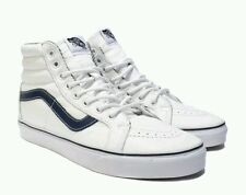 VANS SK8-HI REISSUE LEATHER WHITE STRIPES VN0003CAI1M NEW MENS SIZE 11