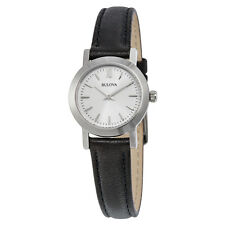 Bulova Classic Silver Dial Interchangeable Leather Ladies Watch 96X127