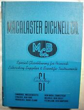 Macalaster Bicknell Scientific Catalog 1961 ASBESTOS use in School Laboratories!