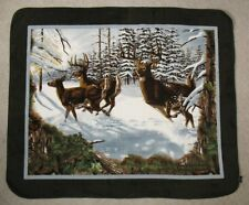 Deer in the Snow Fleece Throw Blanket