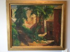PAUL GATTUSO 1935 Original Oil Painting On Linen Listed American Artist Vintage