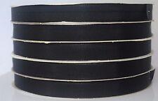"""500 Yards Black Fabric Grosgrain Ribbon  5/8"""" Bulk Craft Wedding Strong w/defect"""