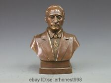 Bronze Copper carving statue Vladimir Putin Bust Figurine Art Sculpture