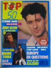Revue TOP 50 Mai 1987 Etienne Daho Johnny Hallyday Jeanne Mas