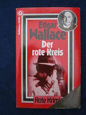 Edgar Wallace  Der rote Kreis 2.  TB Goldmann Rote Krimi