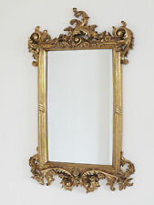 62cm French Baroque Rococo Gold Metal Frame Antique Ornate  Wall Mounted Mirror