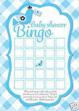 16 Baby Shower Bingo Game Cards Mums To Be Party Favours BLUE Boys