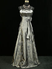Cherlone Clearance Grey Long Sparkly Lace Wedding/Evening Gown Dress UK 12-14