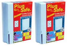 Plug Safe Decorator Outlet Covers (2 Pack) for Baby, Infant, Toddler Child Safe