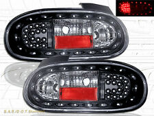 1999-05 Mazda Miata MX-5 BLACK LED Tail Lights NEW