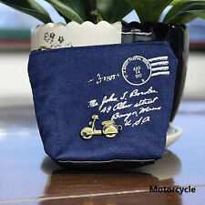 Women Girl Retro Zipper Coin Bag Purse Wallet Card Case Handbag 1pcs