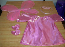 """16-18"""" CPK Cabbage Patch Kids PINK FAIRY HALLOWEEN COSTUME DRESS MASK WINGS"""