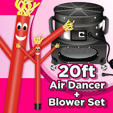 20ft Red Inflatable Wind Air Dancer Dancing Sky Puppet Attachment with Blower