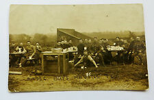 Wonderful WW1 Real Photo Postcard R.A.M.C Boys Having Tea