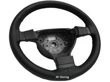 FOR VAUXHALL TIGRA B 2004-2009 BLACK PERFORATED LEATHER STEERING WHEEL COVER
