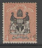 NYASALAND SG23 1895 4d BLACK & REDDISH-BUFF USED