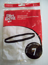 2 Royal Dirt Devil Style 7 Belts 460615 Easy Roommate Broom Vacuum 084000 084001