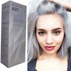 BERINA PERMANENT HAIR DYE COLOR CREAM LIGHT GREY SILVER # A21