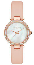 Michael Kors Women's MK2590 Mini Parker Mother Of Pearl Dial Pink Leather Watch